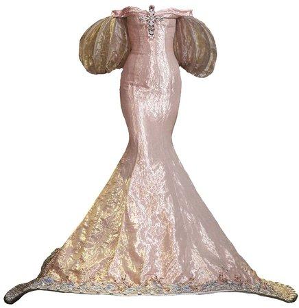 Guo Pei Pink Cross Gown (edit by alldressedupbutnowheretogo)
