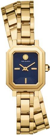 Robinson Mini Watch, Gold-Tone/Navy, 22 MM