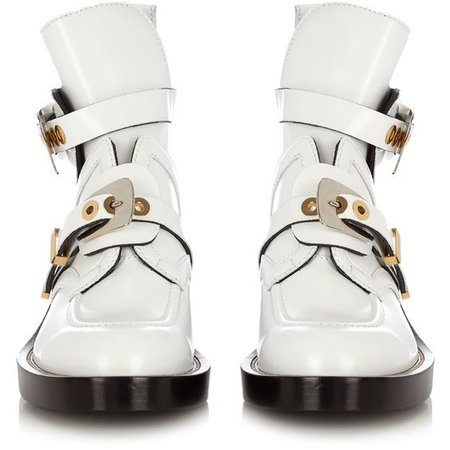 Balenciaga Ceinture cut-out leather ankle boots (29.068.705 VND)