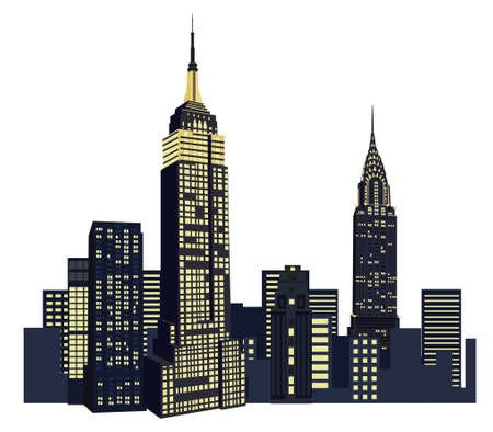 Illustration With New York City Skyline Isolated On White Background Royalty Free Cliparts, Vectors, And Stock Illustration. Image 10626902.