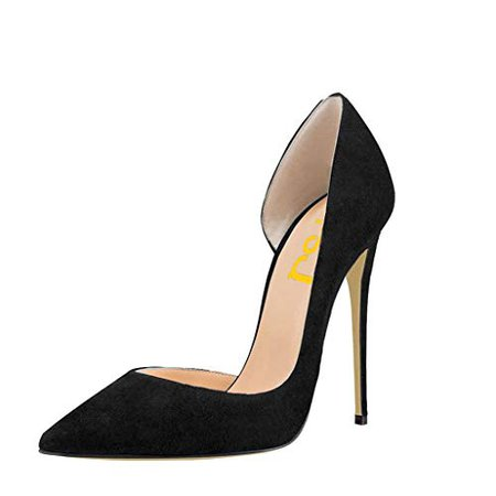 Amazon.com | FSJ Women Formal Dress Shoes Pointed Toe D'Orsay High Heels Sexy Stiletto Pumps Size 4-15 US | Pumps