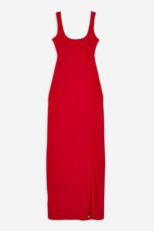 **Red Square Line Thigh Maxi Dress by Club L - Dresses - Clothing - Topshop
