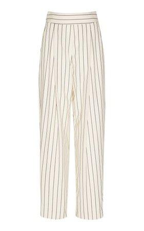 Striped Wool And Mohair Pants By Oscar De La Renta | Moda Operandi
