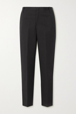 Cotton-blend Tapered Pants - Black