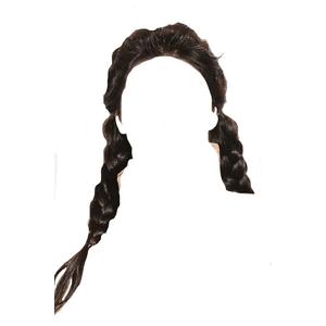 Black Brown Hair Twin Braids