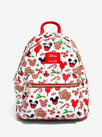Loungefly Disney Mickey Mouse Holiday Treats Mini Backpack