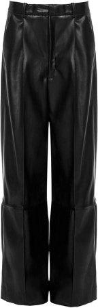 Studio Cut Faux-Leather Wide-Leg Pants