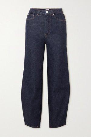 High-rise Tapered Jeans - Dark denim