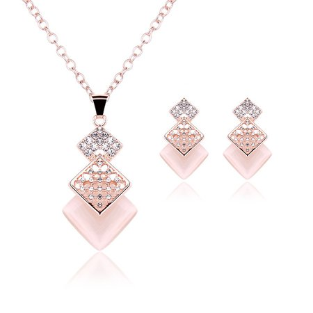 Jewelry wholesale fashion suit black gem earrings necklace sets charm party for women gift Crystal Stone-in Jewelry Sets from Jewelry & Accessories on Aliexpress.com | Alibaba Group