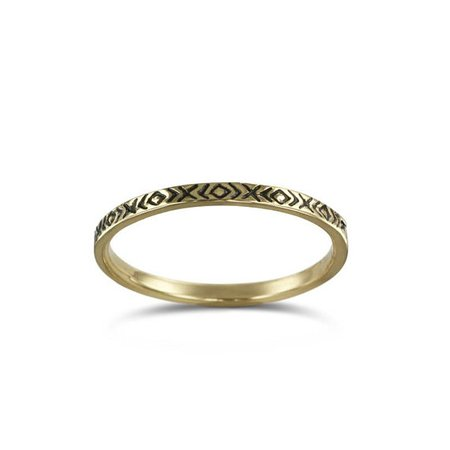 Lost Apostle Bronze Patterned Stacking Ring