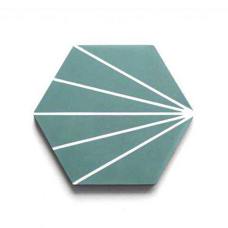 "radar hexagon 8""x9""x5/8"" hex sample"
