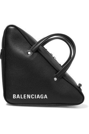 Balenciaga | Triangle Duffle printed textured-leather tote | NET-A-PORTER.COM