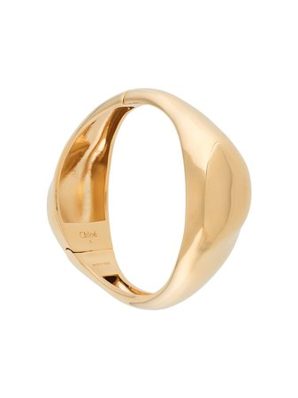 Shop gold Chloé sculpted cuff bracelet with Express Delivery - Farfetch