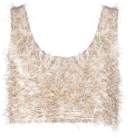 textured cropped tank top