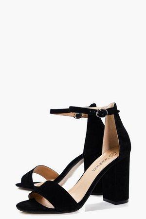 Two Part Block Heels | Boohoo