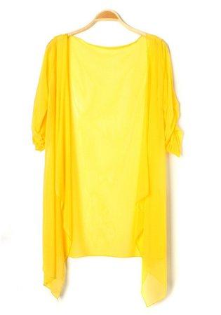 Yellow Gauze Cardigan
