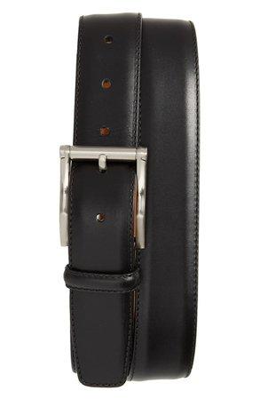 Magnanni Carbon Leather Belt | Nordstrom