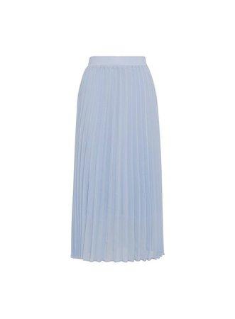 Pale Blue Pleated Midi Skirt | Dorothy Perkins