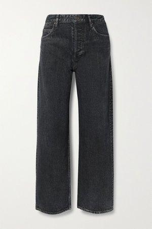 Black High-rise wide-leg jeans   Balenciaga   NET-A-PORTER