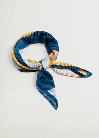 Printed pleated scarf - Plus sizes   Violeta by Mango United Kingdom