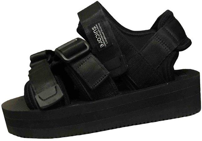 Black Rubber Sandals