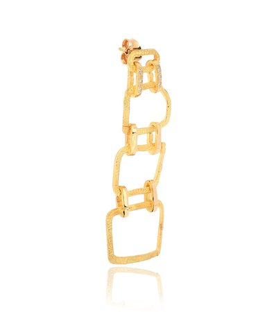 Roxy Delight 18Kt Gold Single Earring With Diamonds - Elhanati | Mytheresa