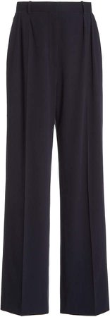 The Row Phoebe Pleated Cady Wide-Leg Pants