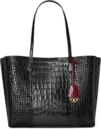 Perry Croc Embossed Leather Tote