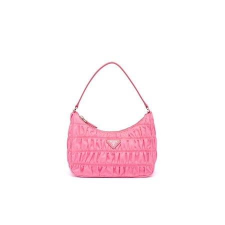 Nylon and Saffiano leather mini bag | Prada