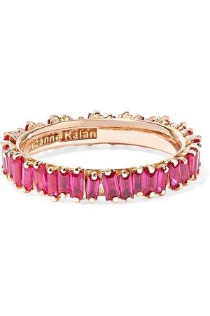 Suzanne Kalan | 18-karat rose gold ruby ring | NET-A-PORTER.COM