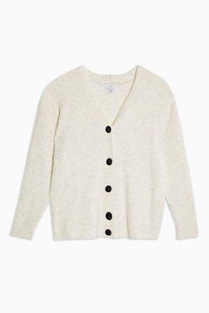 Super Soft Ribbed Cardigan | Topshop white