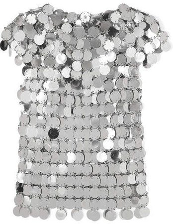Paco Rabanne Sequined Top - Silver