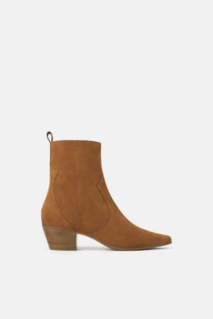 zara brown cowboy boots