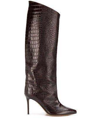 Alexandre Vauthier Bottes Croco High Booty - Farfetch