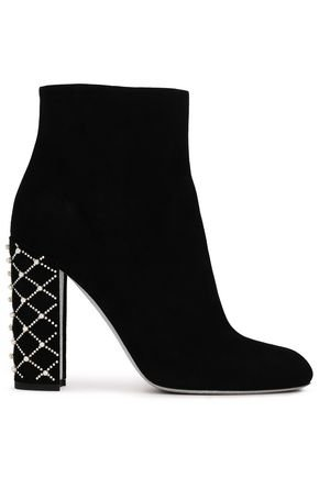 Embellished suede ankle boots | RENE' CAOVILLA | Sale up to 70% off | THE OUTNET