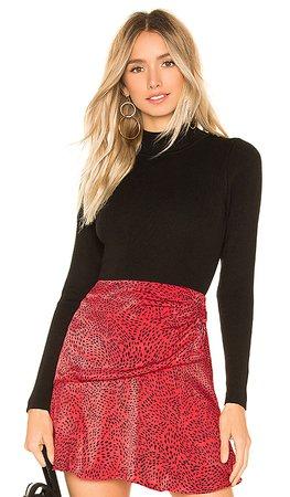 superdown Kayla Long Sleeve Bodysuit in Black | REVOLVE