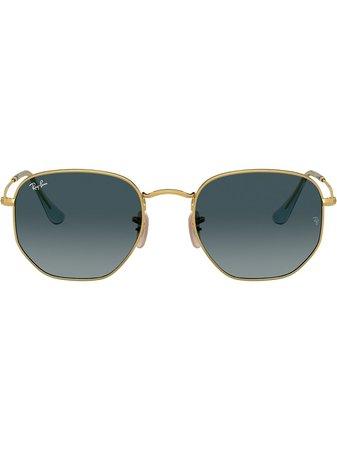 Ray-Ban RB3548N Hexagonal Sunglasses - Farfetch