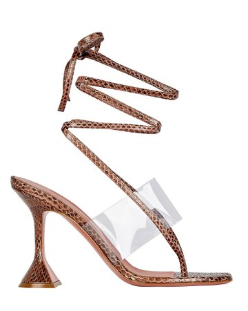 Amina Muaddi Zula Embossed Thong Sandals | INTERMIX®