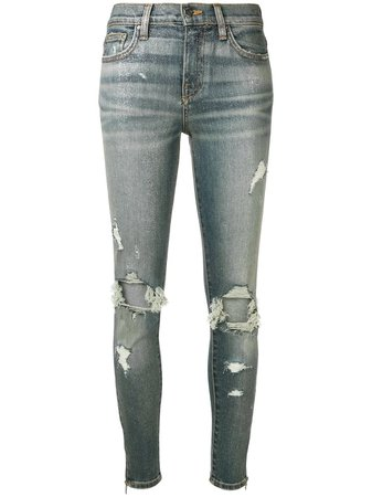 Amiri Distressed skinny-fit Jeans - Farfetch