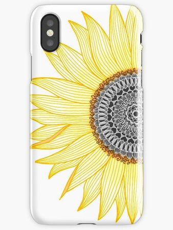 """""""Golden Mandala Sunflower"""" iPhone Cases & Covers by paviash 