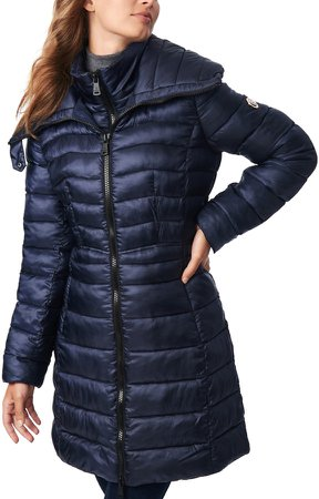 Packable Water Resistant Ecoplume(TM) Walker Coat