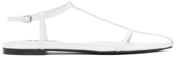 White Pointy Toe Flat Sandals