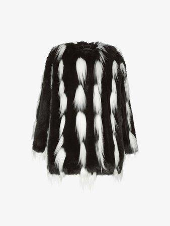 Bicolor coat in faux fur | GIVENCHY Paris