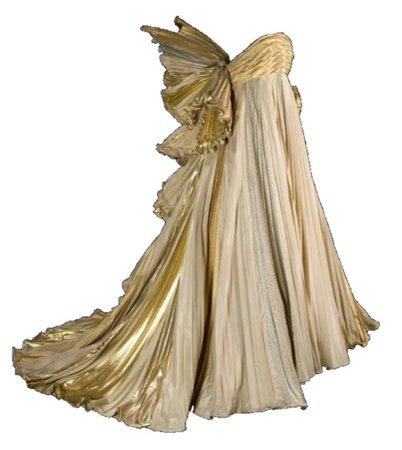 golden victorian fairy dress