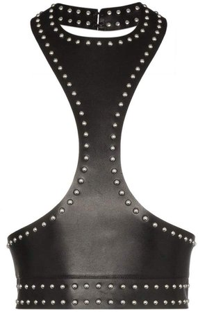 sleeveless studded leather harness