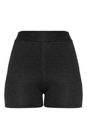 Basic Black High Waisted Shorts | Shorts | PrettyLittleThing