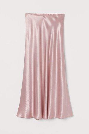 Satin Skirt - Pink