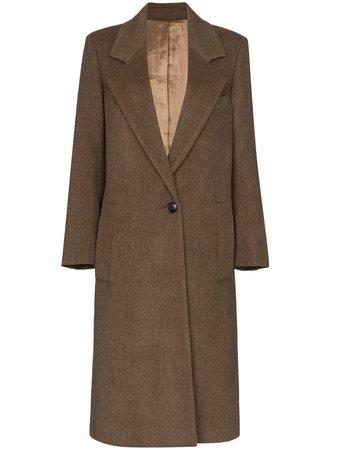 Brown Joseph Captain Mid-Length Coat | Farfetch.com
