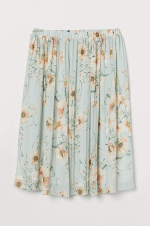 H&M+ Pleated Skirt - Green