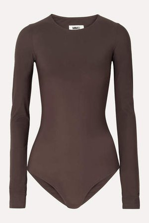 Stretch-jersey Bodysuit - Dark brown